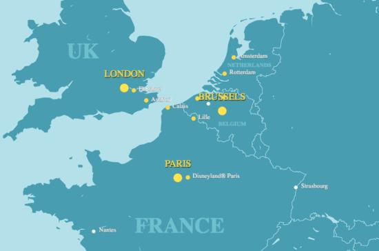 eurostar map