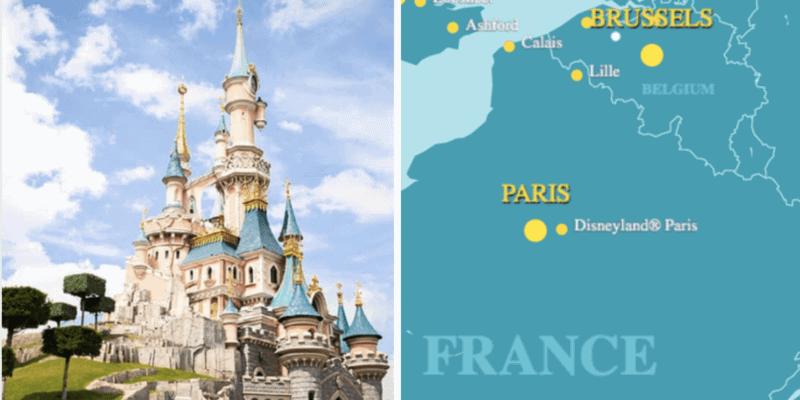 disneyland paris eurostar map