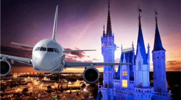 disney world airplane over castle