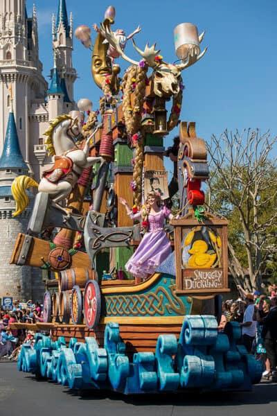 Tangled float festival of fantasy