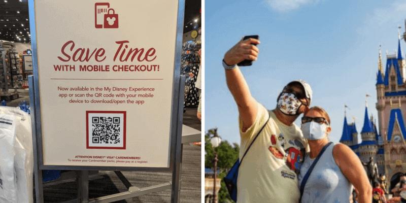 Disney mobile checkout