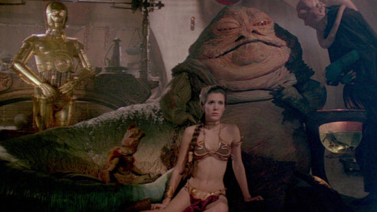 jabba the hutt princess leia bikini