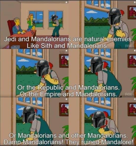 simpsons mandalorian meme