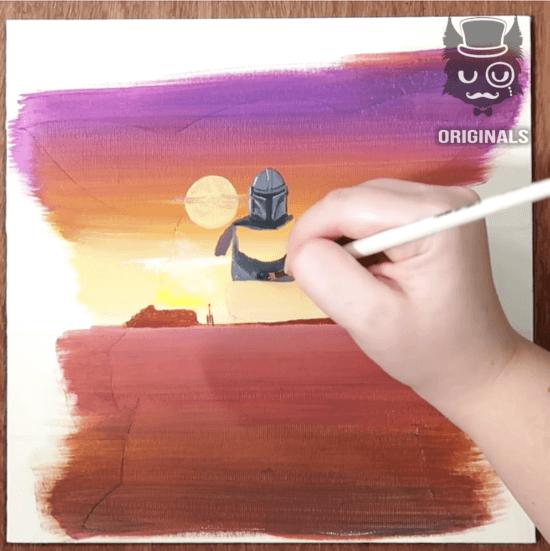mandalorian painting time lapse