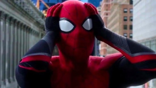 tom holland as peter parker aka spiderman confused