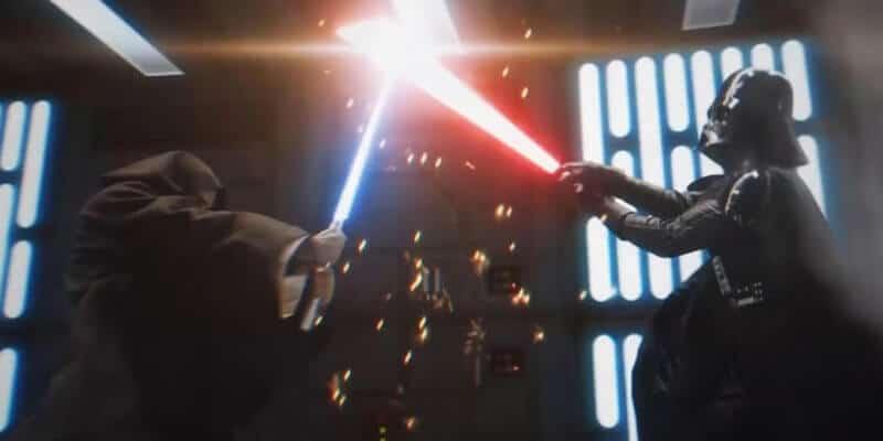 vader kenobi lightsaber duel