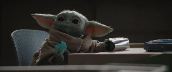 Baby Yoda with Macarons