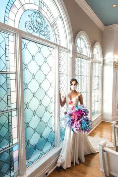Jasmine wedding dress modelled