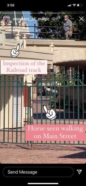 Disneyland Railroad Inspection