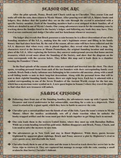 Pitch Document Dastoli season one arc