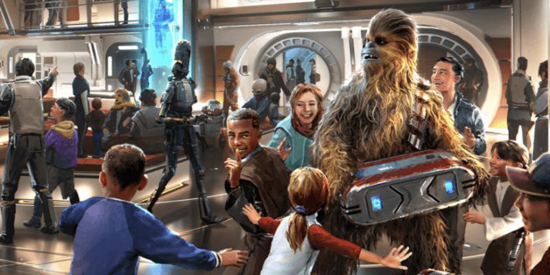 galactic starcruiser chewbacca with children