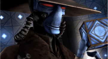 cad-bane with jedi holocron