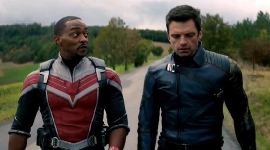 Anthony Mackie and Sebastien Stan in Falcon and the Winter Soldier