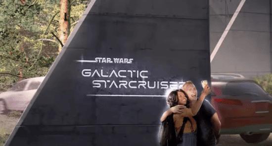galactic starcruiser sign couple taking selfie