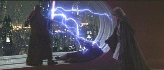 mace windu palpatine force lightning
