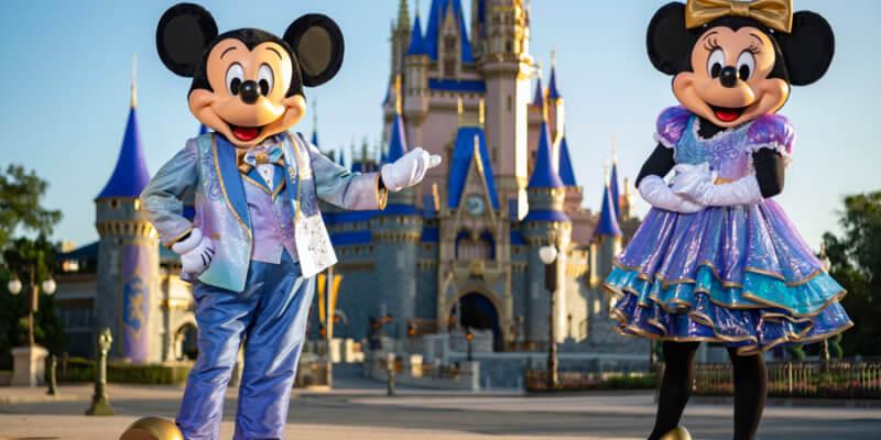 mickey and minnie walt disney world 50th