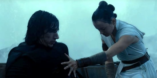 rey and kylo force healing