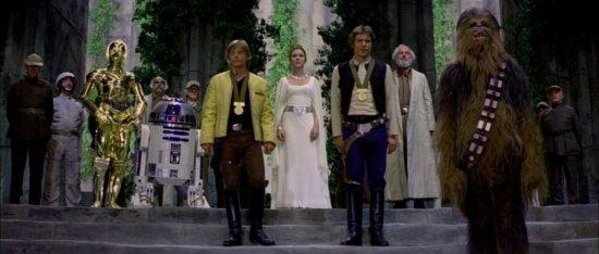 star wars a new hope medal scene