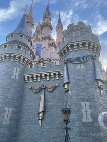 cinderella castle 50th anniversary decorations