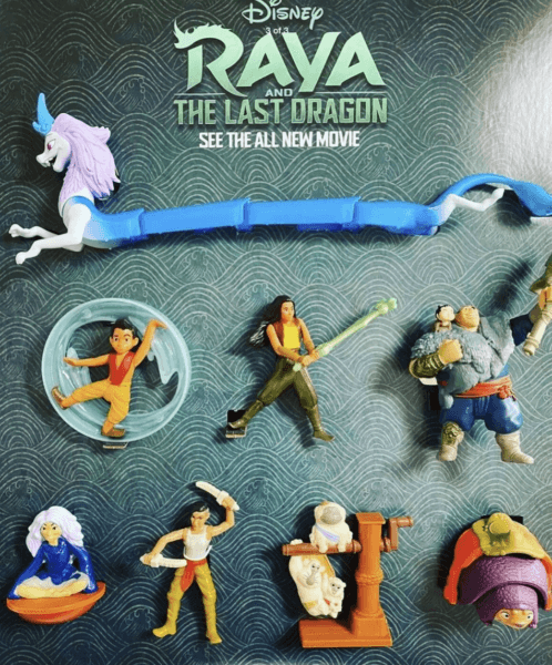 Raya and the Last Dragon Happy Meal Toys