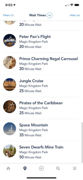 magic kingdom wait times