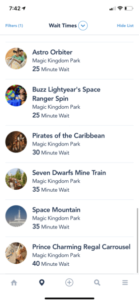 magic kingdom wait timesa