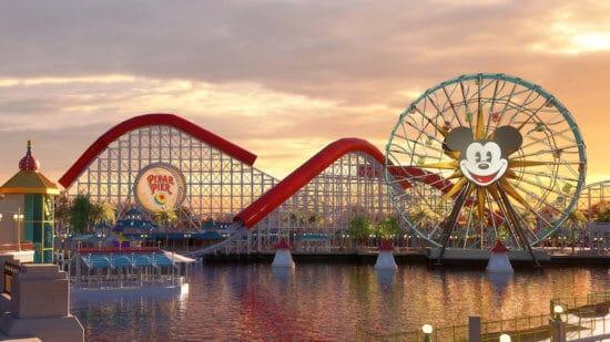 Pixar Pier Sunset