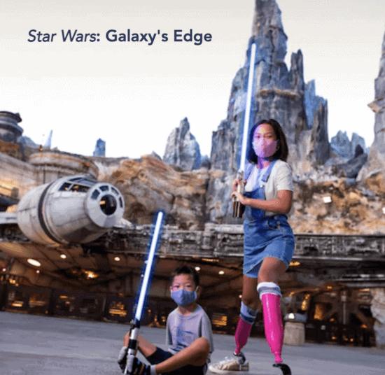 wdw homepage children with prosthetics galaxy's edge