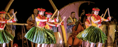 aulani luau stage performance