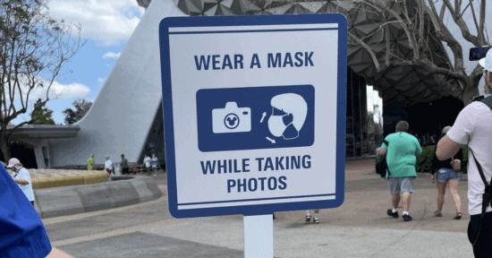disney face masks sign