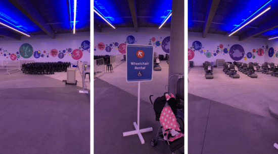 Wheelchair Rental Mickey and Friends Parking