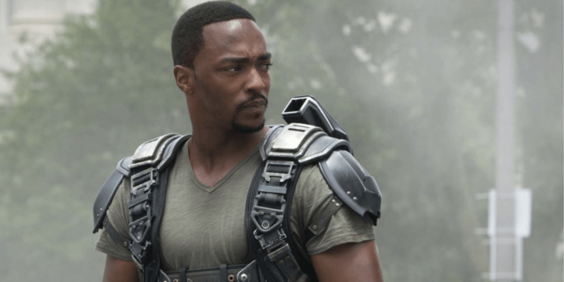 anthony mackie as sam wilson in age of ultron