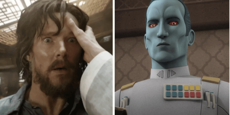 benedict cumberbatch as doctor strange (left) and grand admiral thrawn (right)