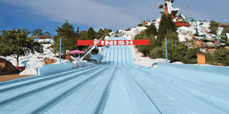 blizzard beach water slide finish line
