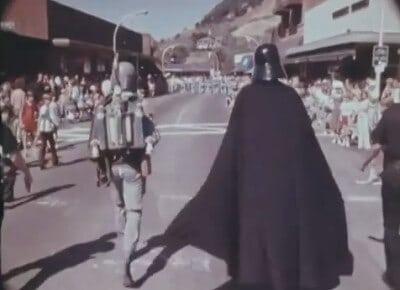 boba fett and darth vader in country fair parade