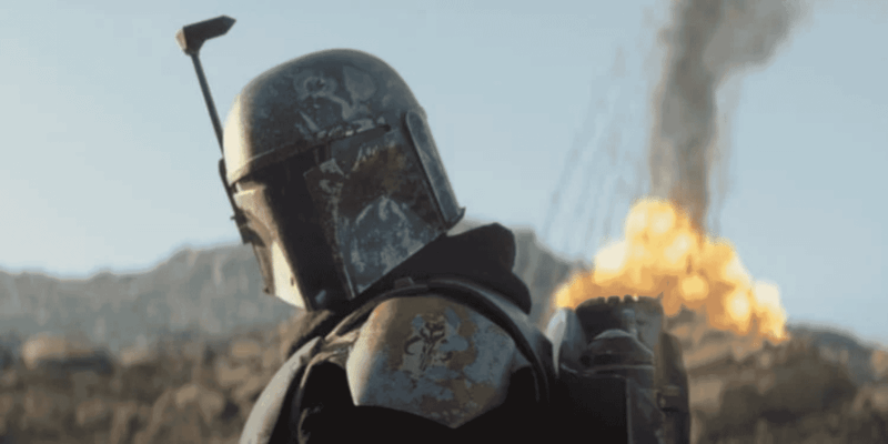 boba fett with explosion in background