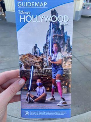 Disney's Hollywood Studios Map children with prosthetics