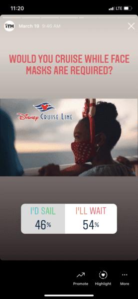 disney cruise line face mask poll
