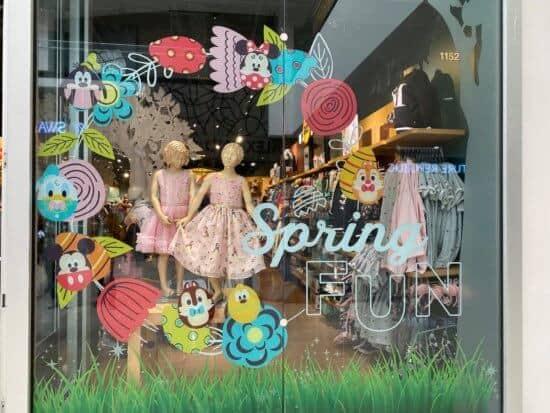 disney store spring window display