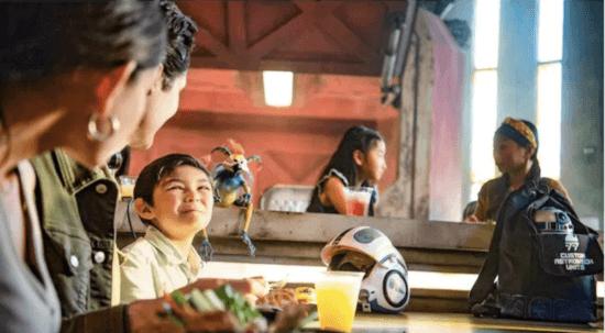 family dining at docking bay 7 at galaxy's edge