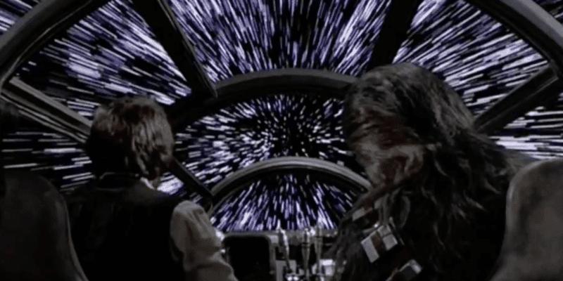 han and chewbacca millennium falcon hyperdrive