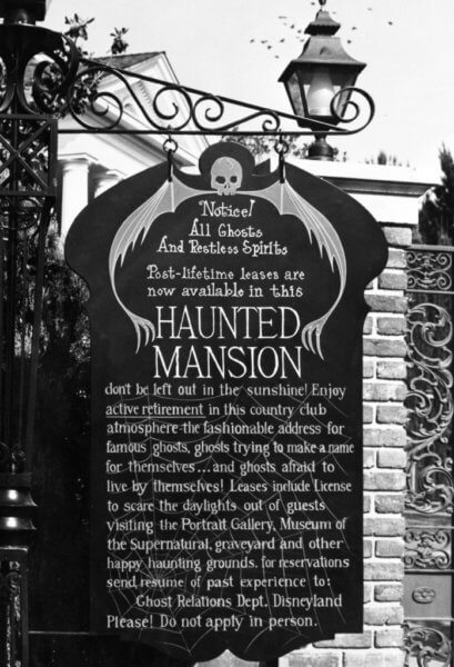 poster prior to haunted mansion opening