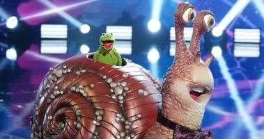 kermit as the snail on the masked singer