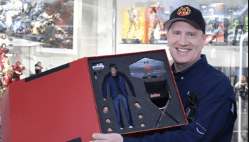 kevin feige with hot toys action figure