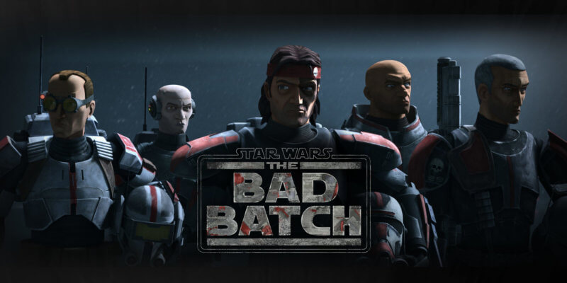 star wars the bad batch with logo overlay