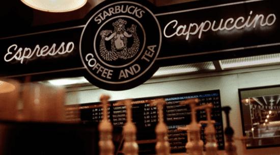starbucks espresso cappuccino sign