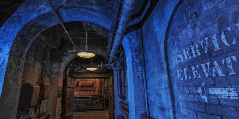 tower of terror service elevator hallway