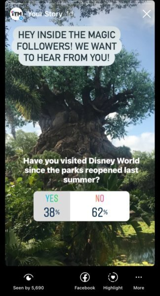 Instagram Story Inside the Magic