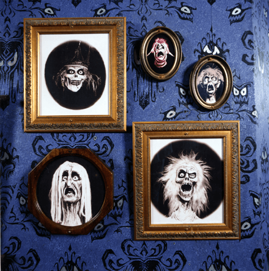 famous wall paper of the haunted mansion