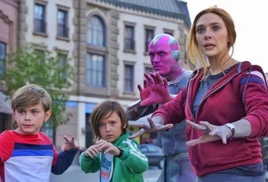 Vision, Wiccan, Speed, and Scarlet Witch